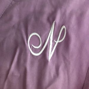 Lilac Cotton Cover/Robe *Monogrammed N